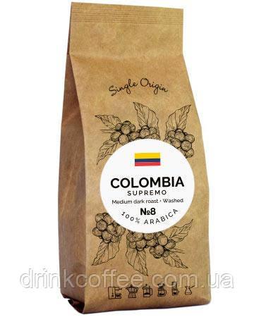 Кофе Colombia Supremo, 100% Арабика, 1кг
