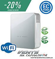 Вентс МИКРА 100 Е2 ЕРВ WiFi. Приточно-вытяжная установка с энтальпийным рекуператором, нагревателями и WiFi, фото 1