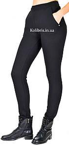 Жіночі брюки з стрейч-котону на флісі розміри від 42 до 52