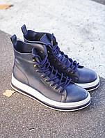 Чоловічі черевики шкіряні високі Chekich CH055 Blue