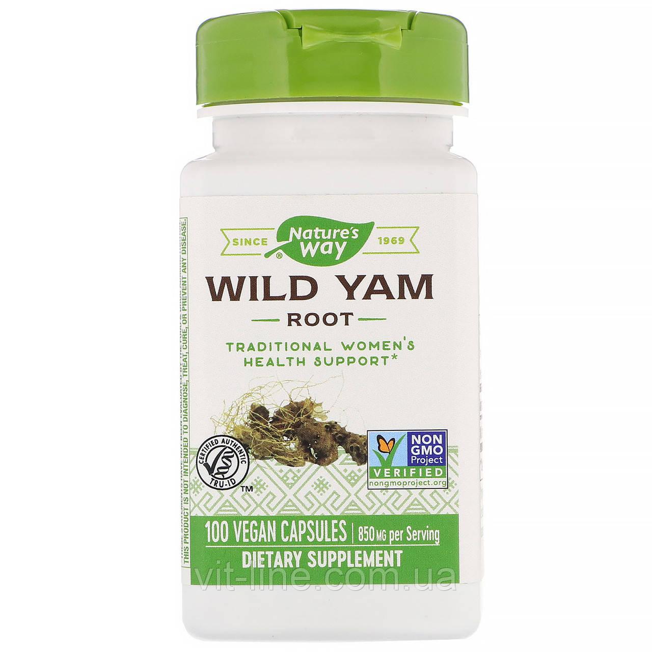 Nature's Way Корінь Дикого ямсу 850 мг, 100 капсул