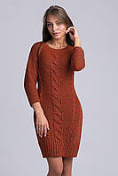 Теплое платье-туника из мягкой и комфортной пряжи
