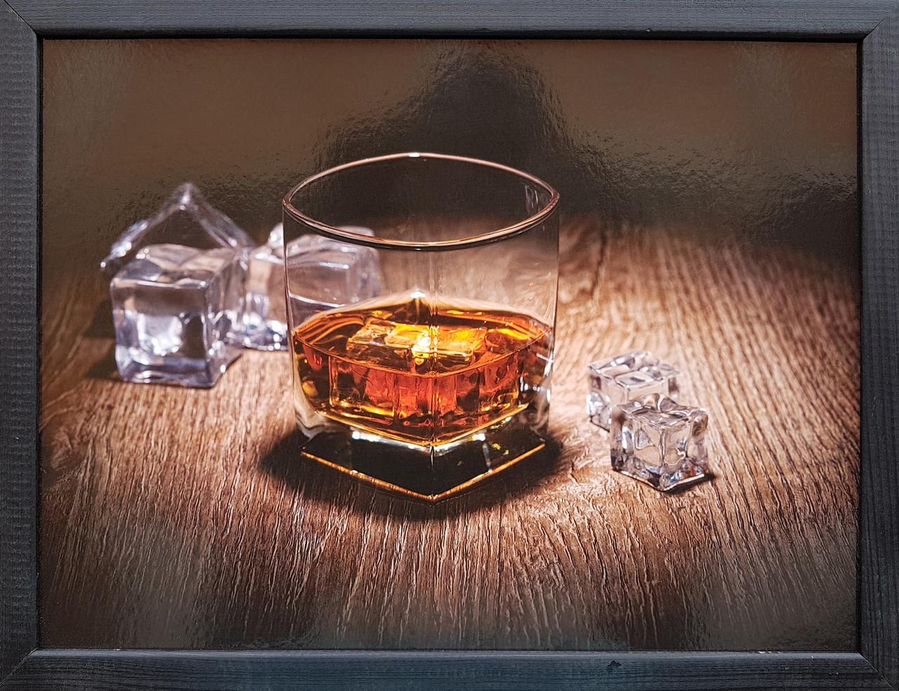 "Фотокартина в деревянной раме ""Whisky 2"", 30х40 см"