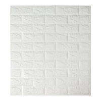 Самоклеящаяся декоративная 3D панель под белый кирпич 700x770x7мм (самоклейка, Мягкие 3D Панели)