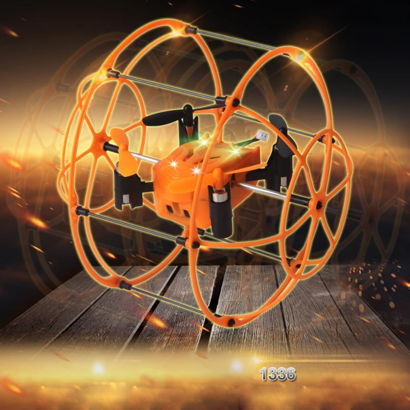 Радиоуправляемый квадрокоптер Helic Max Sky Walker 1336 3D ролловер коптер