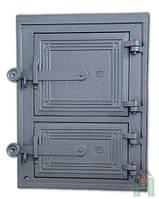 Чугунные дверцы для барбекю Н1602 (342x258), фото 1