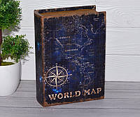 Книга-сейф Карта мира 24 см, фото 1