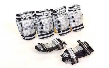 Защита детская наколенники, налокотники, перчатки Zelart CANDY (р-р S-L-8-15лет, черный)