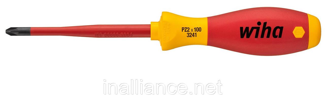 Отвертка PZ2 х 100 мм electric slimFix SoftFinish Wiha 35396