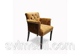 Кресло Ришелье 60 см x 60 см велюр коричневое