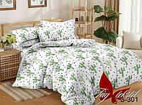 Семейный комплект постельного белья с Кактусами, Люкс-сатин