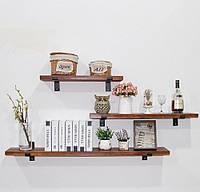 Деревянная полка на стену в кухне