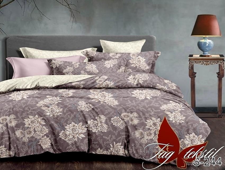 Семейный комплект постельного белья с Цветами, Люкс-сатин
