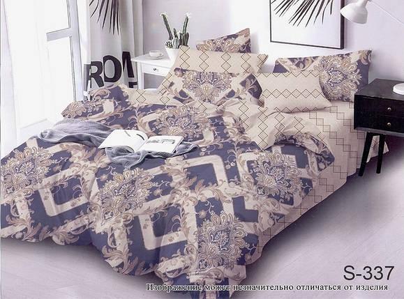 Семейный комплект постельного белья с Узорами, Люкс-сатин, фото 2