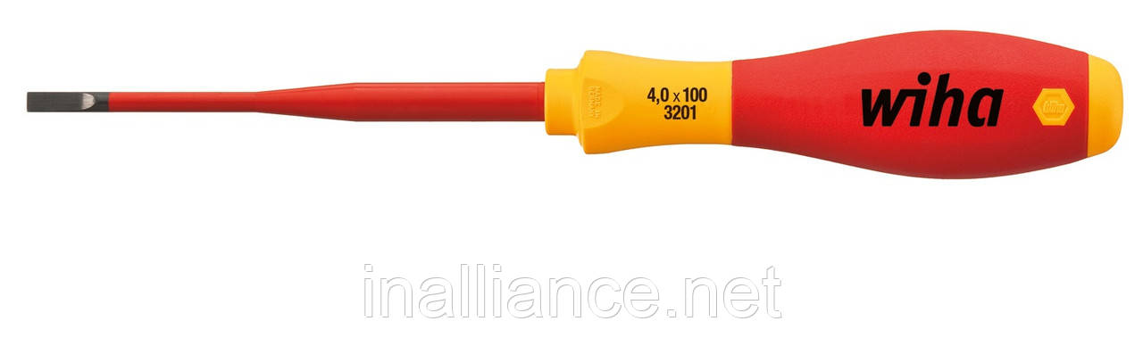 Шлицевая отвертка SL 4,5 х 125 electric slimFix SoftFinish Wiha 35501