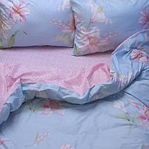 Семейный комплект постельного белья с Цветами, Люкс-сатин, фото 3