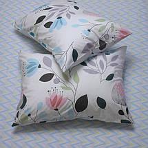 Семейный комплект постельного белья с Цветами, Люкс-сатин, фото 2
