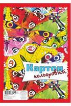 Картон цветной Бриск УВ-7 ф. А-4, 8 листов, фото 3