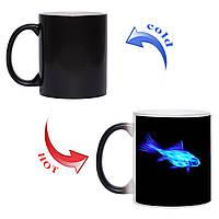 Чашка хамелеон Чарівна рибка 330 мл, фото 1
