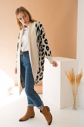 Вязаное пальто с принтом «Лео», фото 2