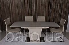 Стол обеденный CHICAGO (120(+40)*80*76) мокко, Nicolas