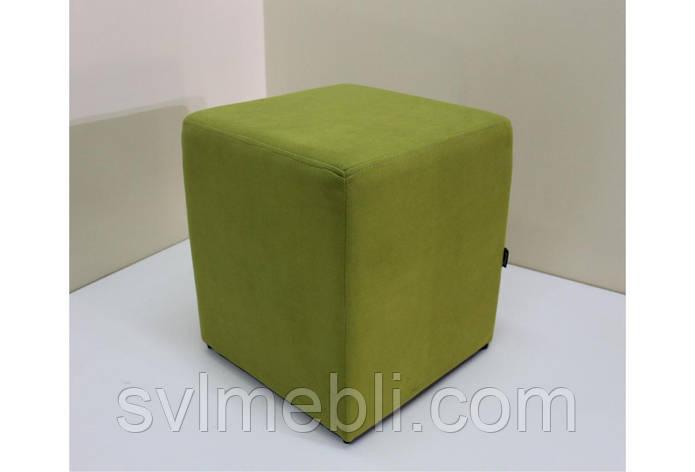 Пуф Куб без ящика велюр зеленый, фото 2