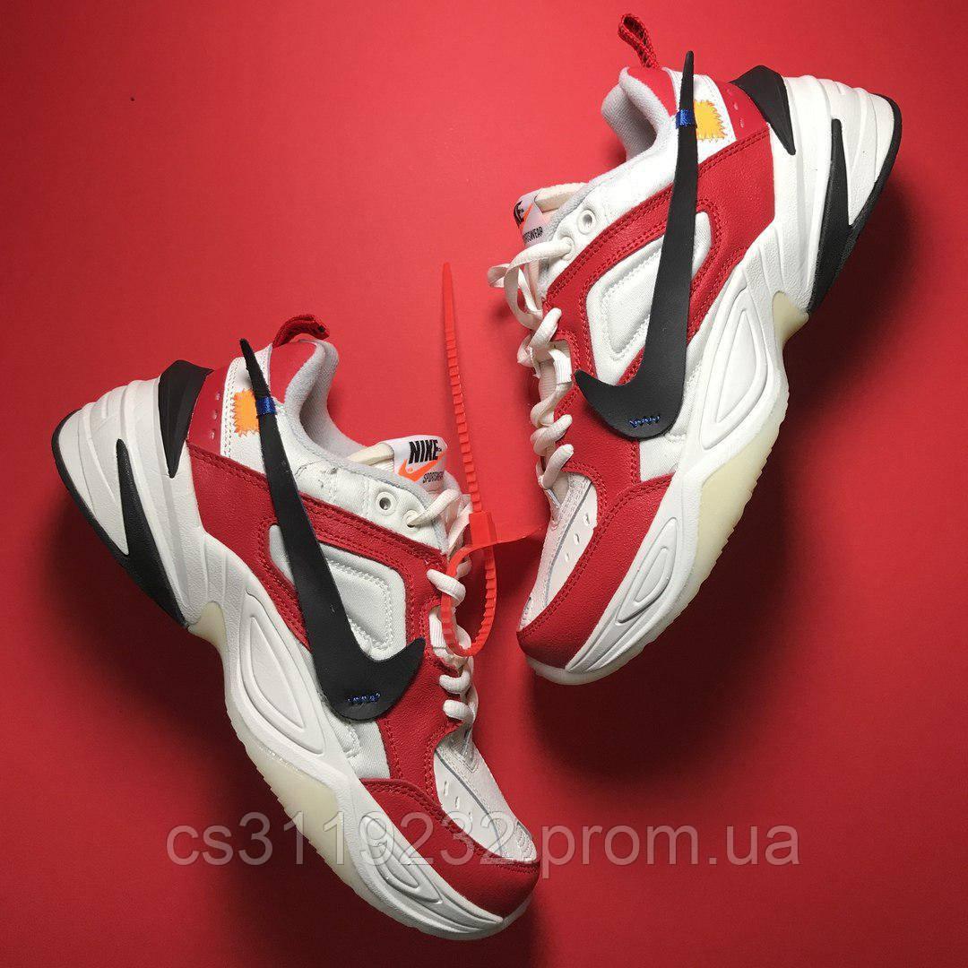 Мужские кроссовки Nike M2K Tekno White Red (красно-белые)