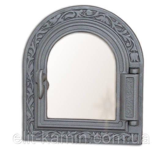 Печные дверцы со стеклом Halmat Н1611 (365x325)
