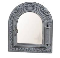 Печные дверцы со стеклом Н1611 (365x325), фото 1