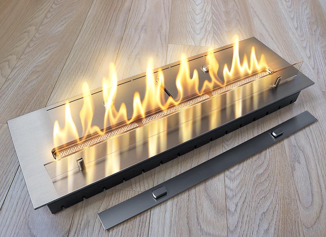Топливный блок со стеклом Gloss Fire Катмай 1000-С1-50