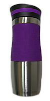 Вакуумная термокружка Empire EM-1516-1 380 мл Фиолетово-стальная gr006833, КОД: 181650