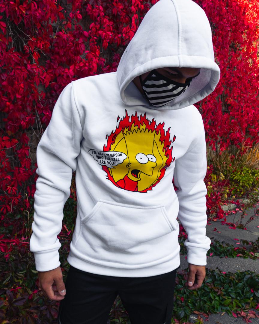 Худи унисекс Bart белое