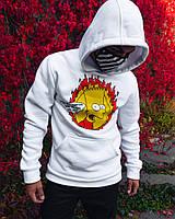 Худи унисекс Bart белое, фото 1