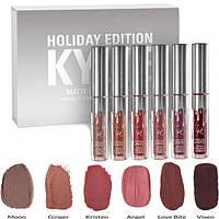 Набор матовых жидких помад Kylie Holiday Edition