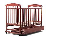 Детская кроватка Наталка для новорожденного с ящиком (тон)
