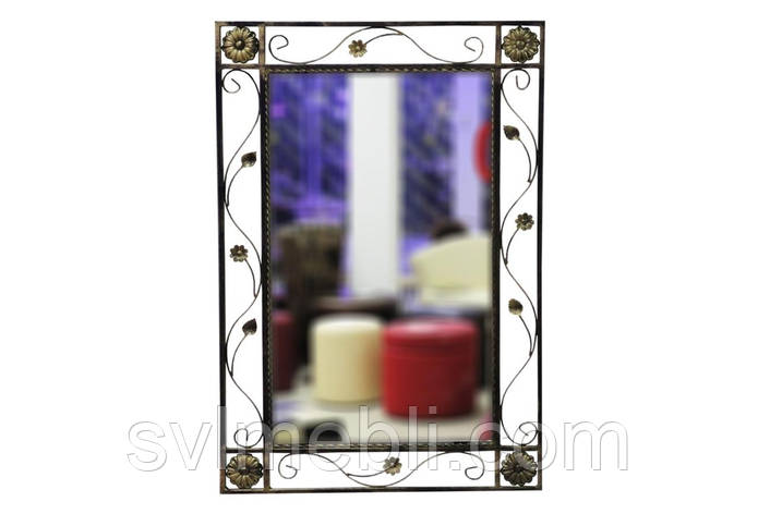 Зеркало кованное Узор черное золото, фото 2