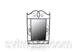Зеркало кованное Неаполь черное серебро