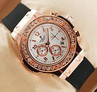 Женские часы Hublot белые с камнями, кварцевые часы Хаблот
