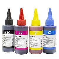Универсальный комплект чернил 4 в 1 BK/C/M/Y 100 мл Черные Маджента Желтые Синие для МФУ принтера копира СНПЧ