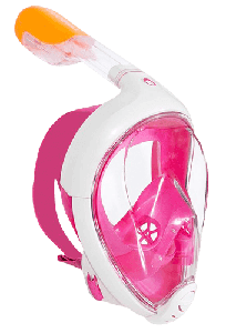 Инновационная маска для снорклинга подводного плавания Easybreath | Розовая