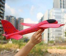 Метательный Самолёт планер трюкач на дальнее расстояние | Красный, фото 2