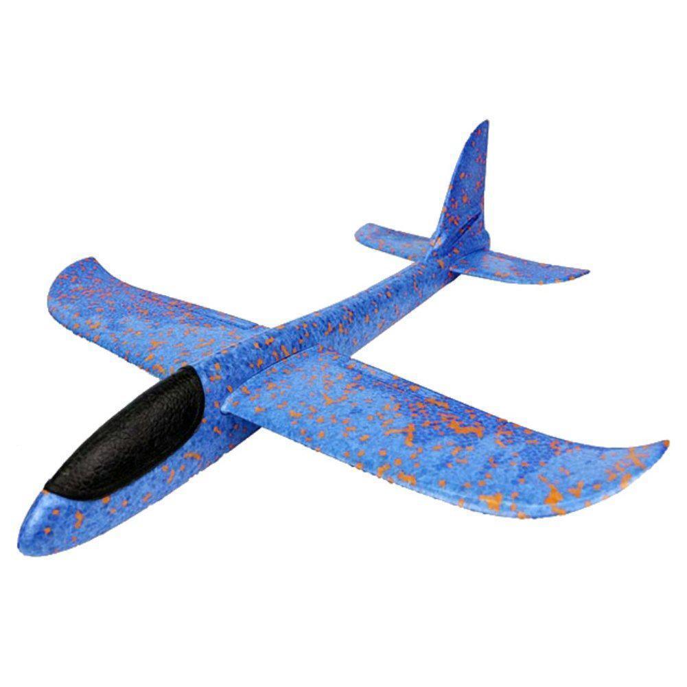 Метательный Самолёт планер трюкач на дальнее расстояние   Синий