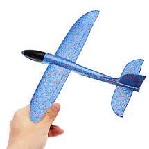 Метательный Самолёт планер трюкач на дальнее расстояние   Синий, фото 3