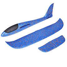 Метательный Самолёт планер трюкач на дальнее расстояние   Синий, фото 2