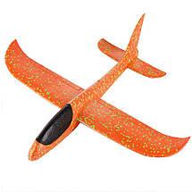Метательный Самолёт планер трюкач на дальнее расстояние | Оранжевый, фото 3