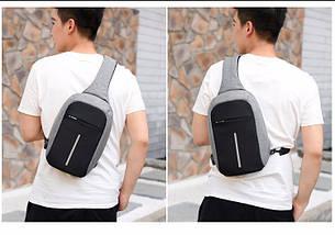 Городской рюкзак антивор Bobby Mini с USB с защитой от карманников | Городской рюкзак-антивор, фото 3