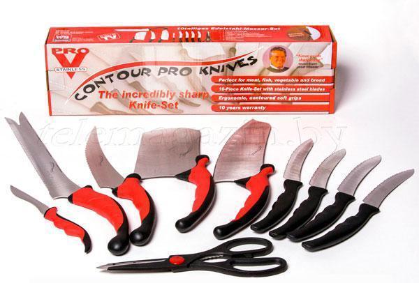 Набор кухонных ножей c магнитным держателем Contour Pro Knives | Контр Про