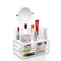 Органайзер для косметики с зеркалом Cosmetic Storage Original | Бокс органайзер