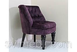 Кресло Прованс венге ножки велюр фиолетовый