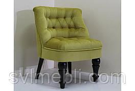 Кресло Прованс венге ножки велюр желтый